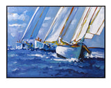 Breezy Sailing Framed Oil Painting