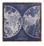 Chandler Blue and White Map With Frame