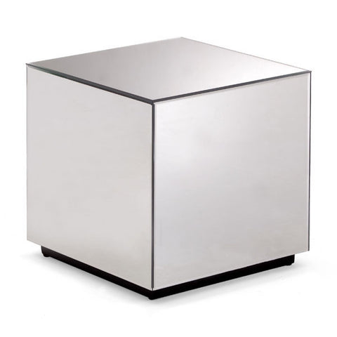 Cubed Mirror Side Table