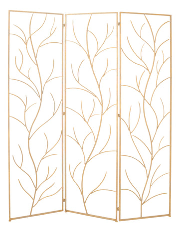 Metal 3 Panel Tree Branch Designed Screen