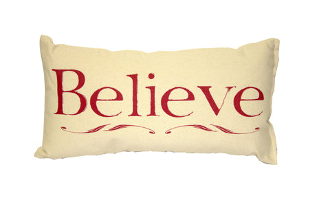 Believe Pillow (Red)