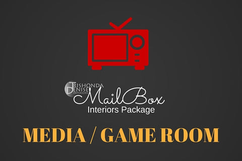 MailBox Interiors Media/Game Room Design Package