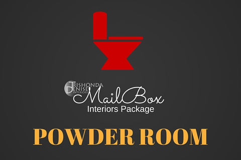 MailBox Interiors Powder Room Design Package