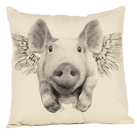 Flying Pig Pillow (Multiple Sizes)