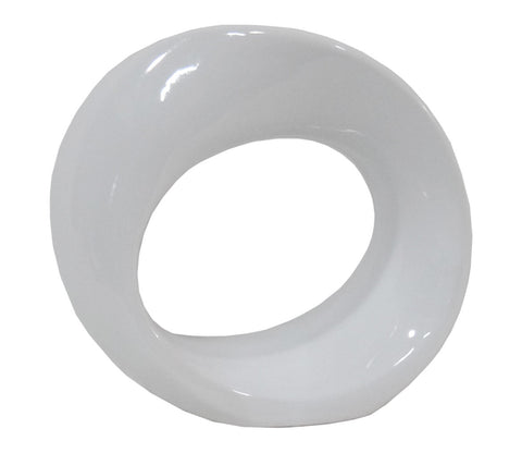 White Ceramic Loop Statuette