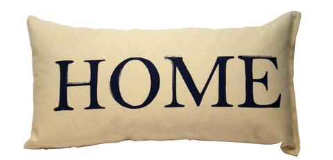 """Home"" Pillow (Navy Blue)"