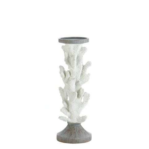 Barrier White Coral Candleholders (Multiple Sizes)