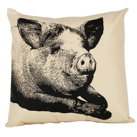 Pig Head Pillow