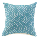Aqua Sailor's Knots Throw Pillow
