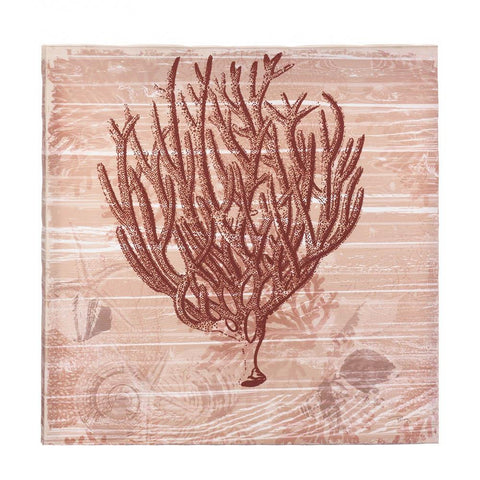 Red Seaside Coral Canvas Wall Art