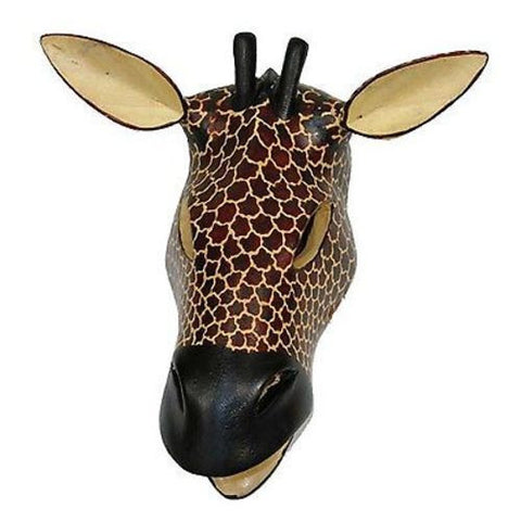 Hand-carved African Giraffe Mask Handmade and Fair Trade