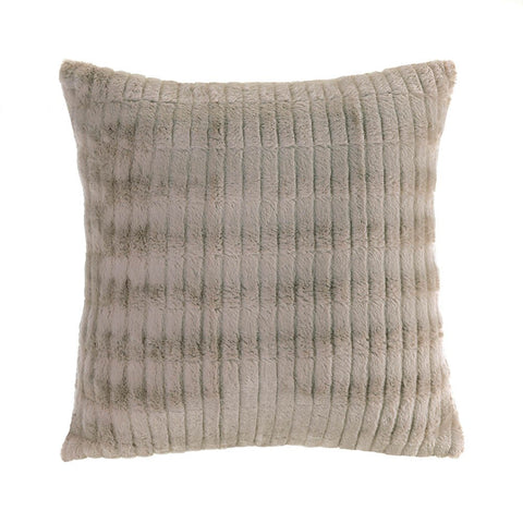 TAUPE FUR PILLOW