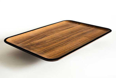 Chroma Walnut Wood Platter (Multiple Colors)
