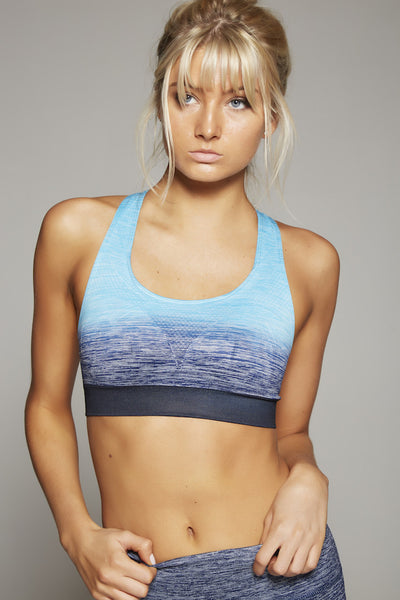 Madison Sports Bra (Turquoise/Navy)