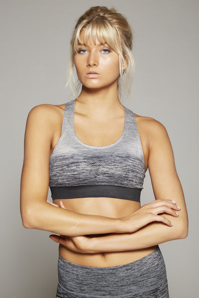 Madison Sports Bra (Grey/Black)