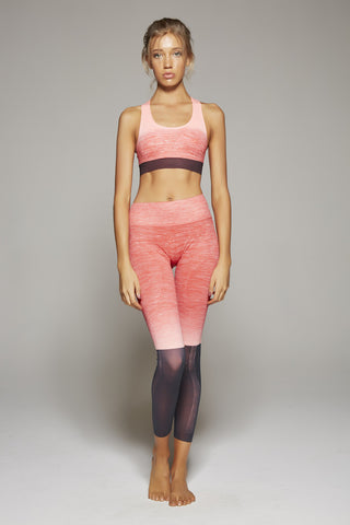 Jennifer Sunrise Black Block Long Pant (Coral/Pink)