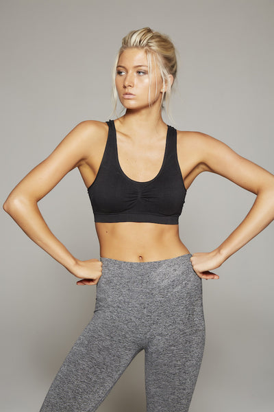 Elsa Racer Back Sports Bra (Black)