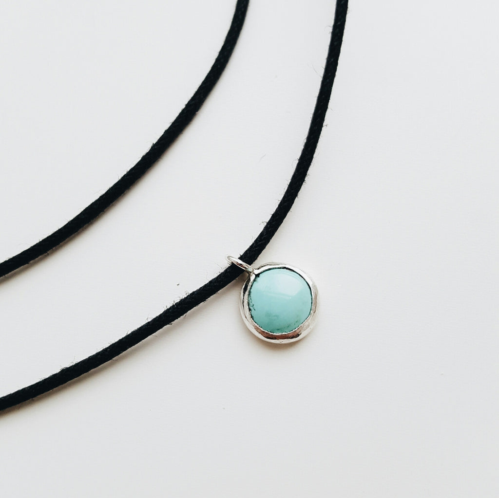 Double Wrapped Turquoise Choker