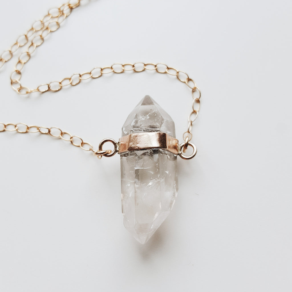 Crystal Necklace - 14k Gold filled