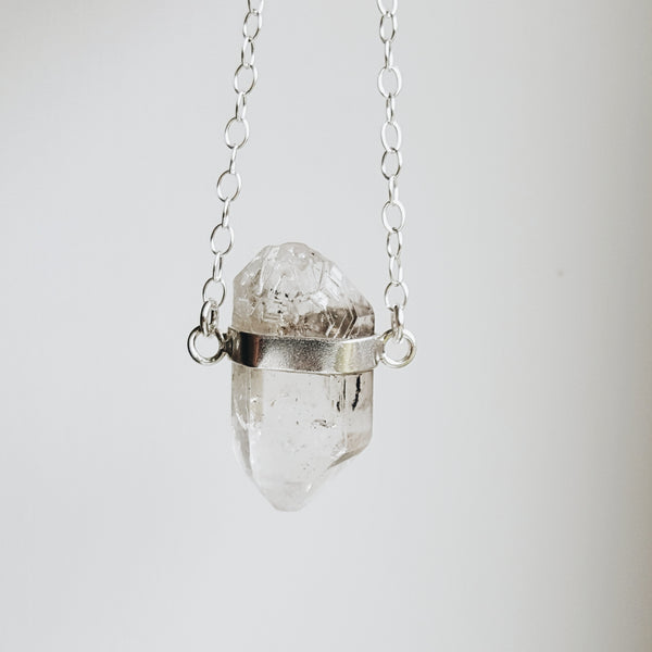 Crystal Necklace - Sterling Silver