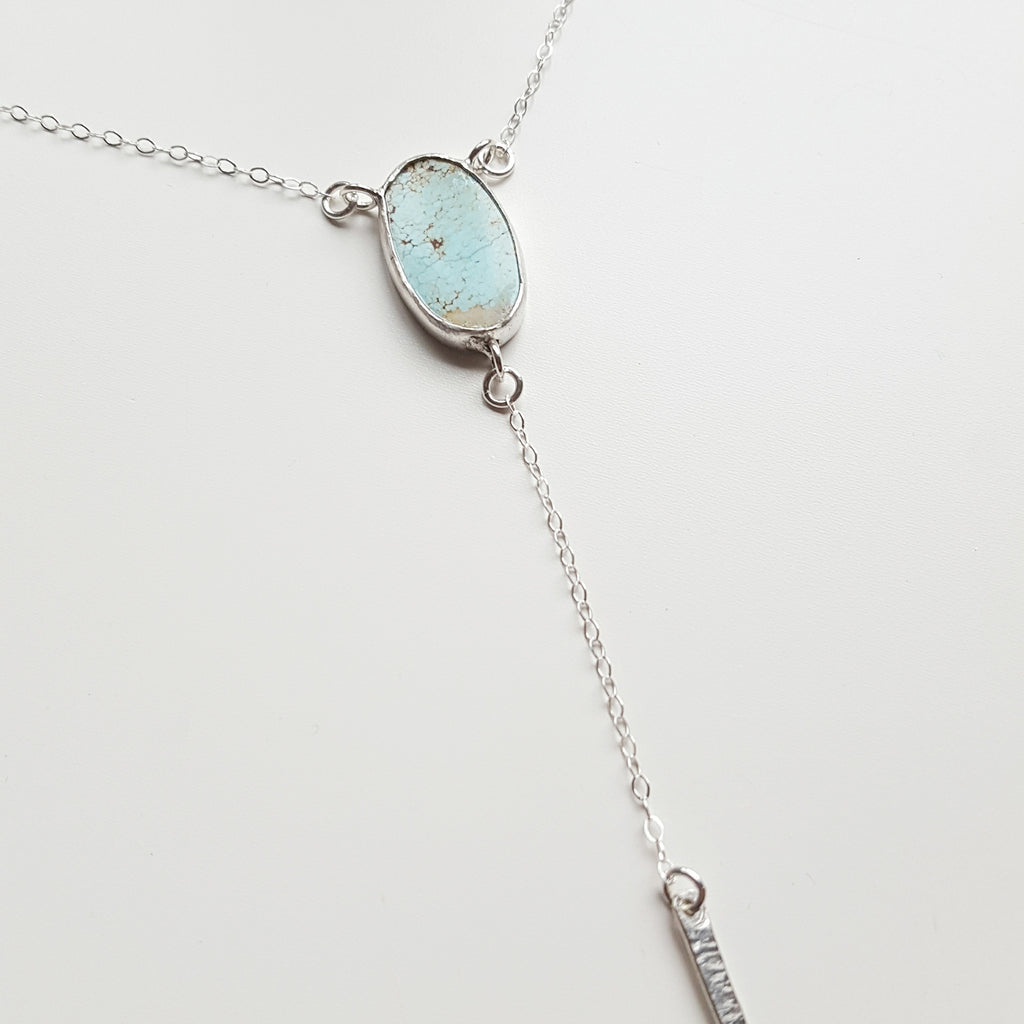 Turquoise Lariat - sterling silver