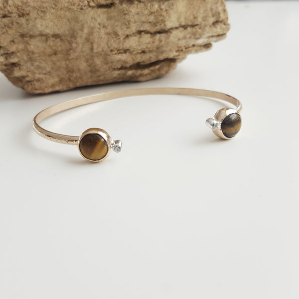 cosmic cuff - tigers eye