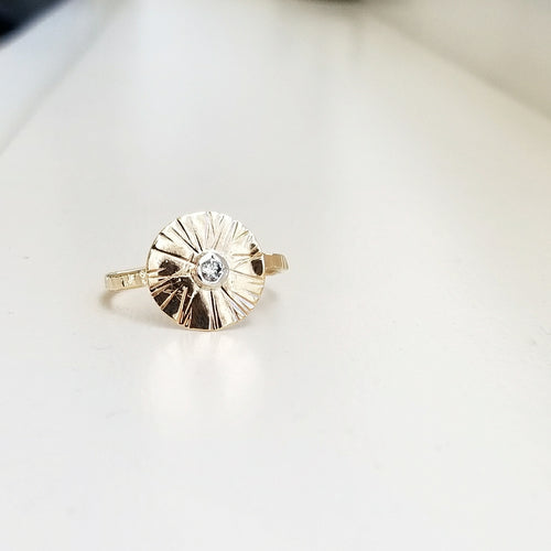 Sungazer ring - 14k yellow gold filled