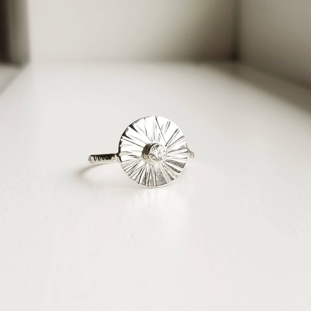 Sungazer ring - sterling silver