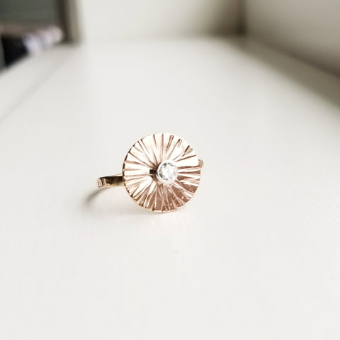 Sungazer ring  - 14k rose gold filled