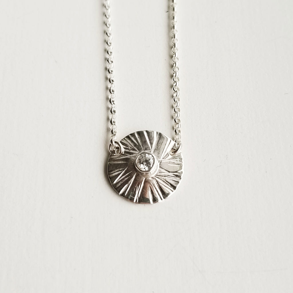 Sungazer necklace - sterling silver - small