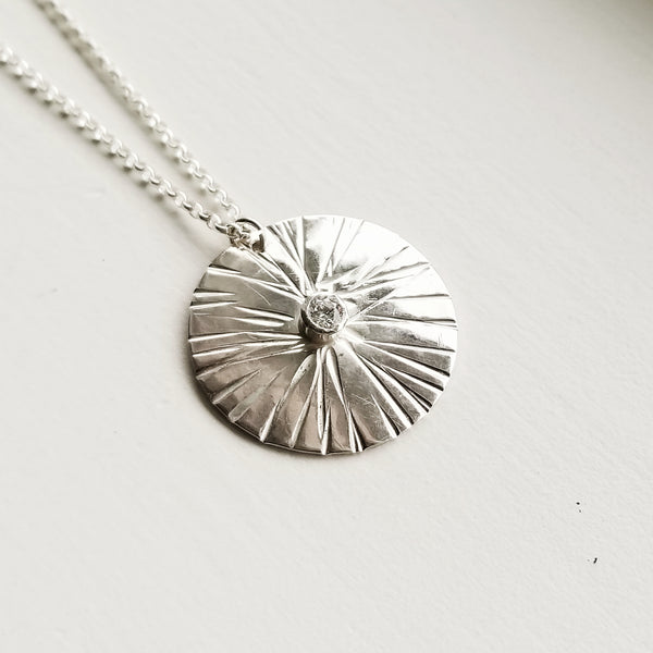 Sungazer necklace - sterling silver - large