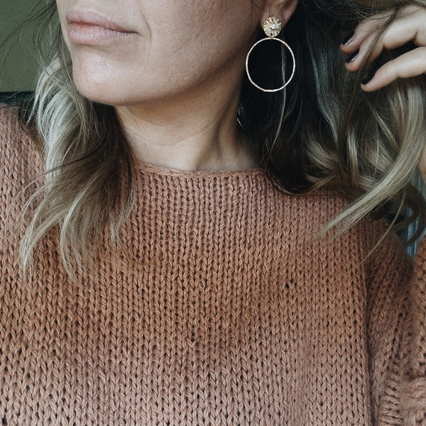 Sungazer hoops - 14k rose gold filled - small