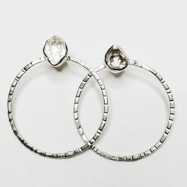 Hoops - herkimer diamond crystal