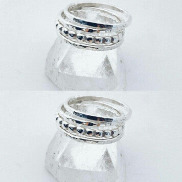 Set of 4 Droplet Stacking Rings