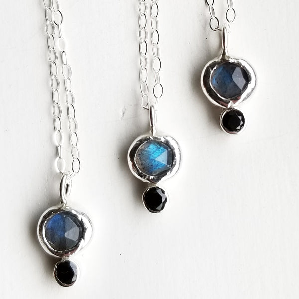 Orb necklace - labradorite