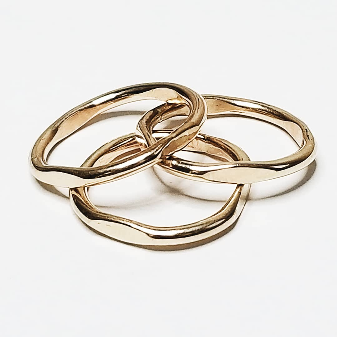 Cushion stacking rings - 14k gold filled