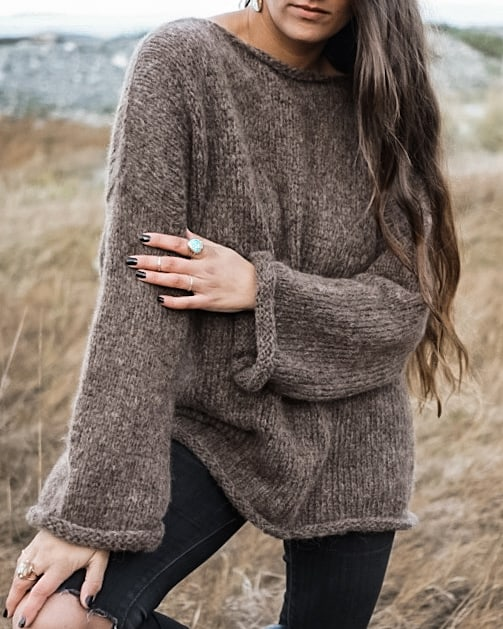 Twelve Feathers Sweater - Brown