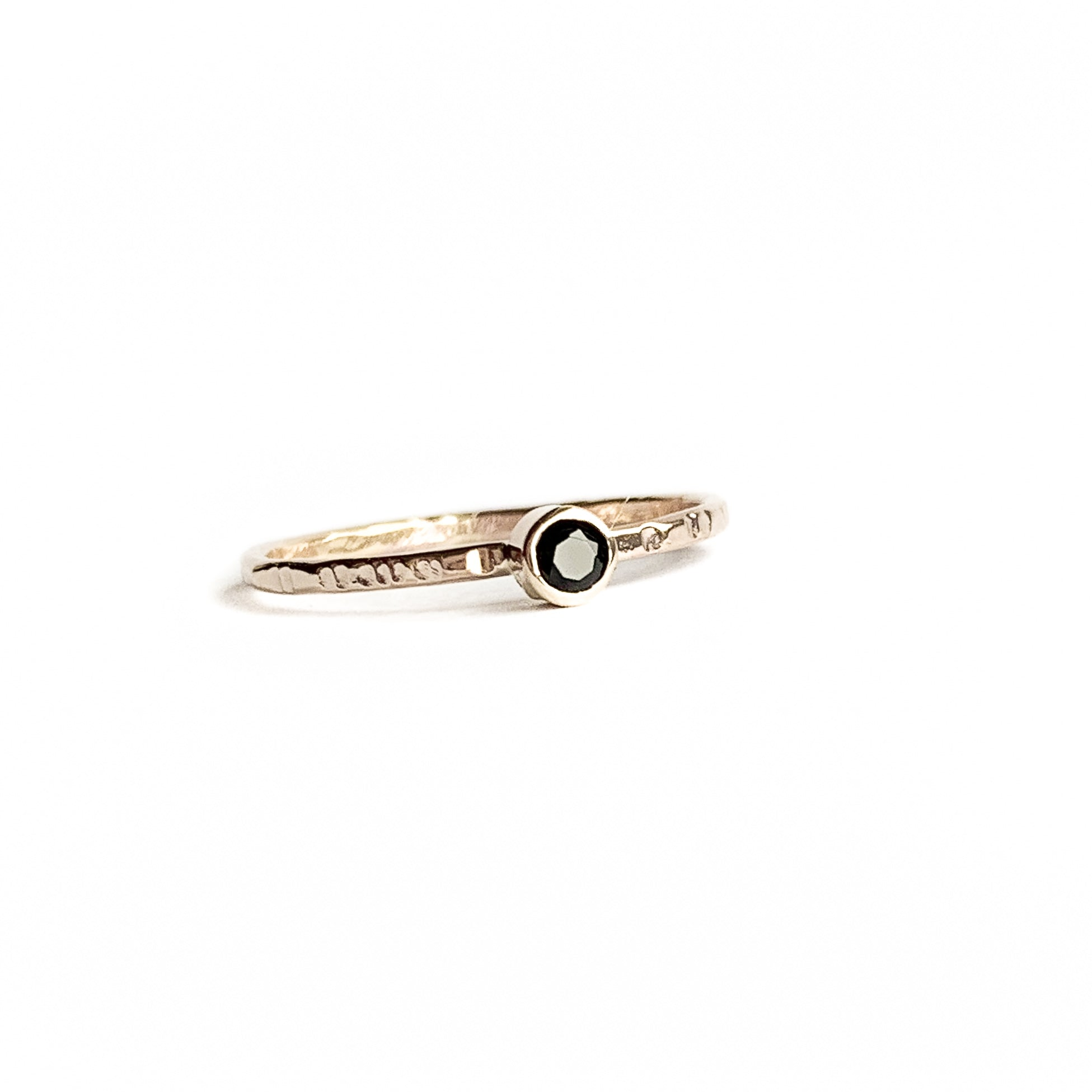 BLACK SPINEL ring - Gold