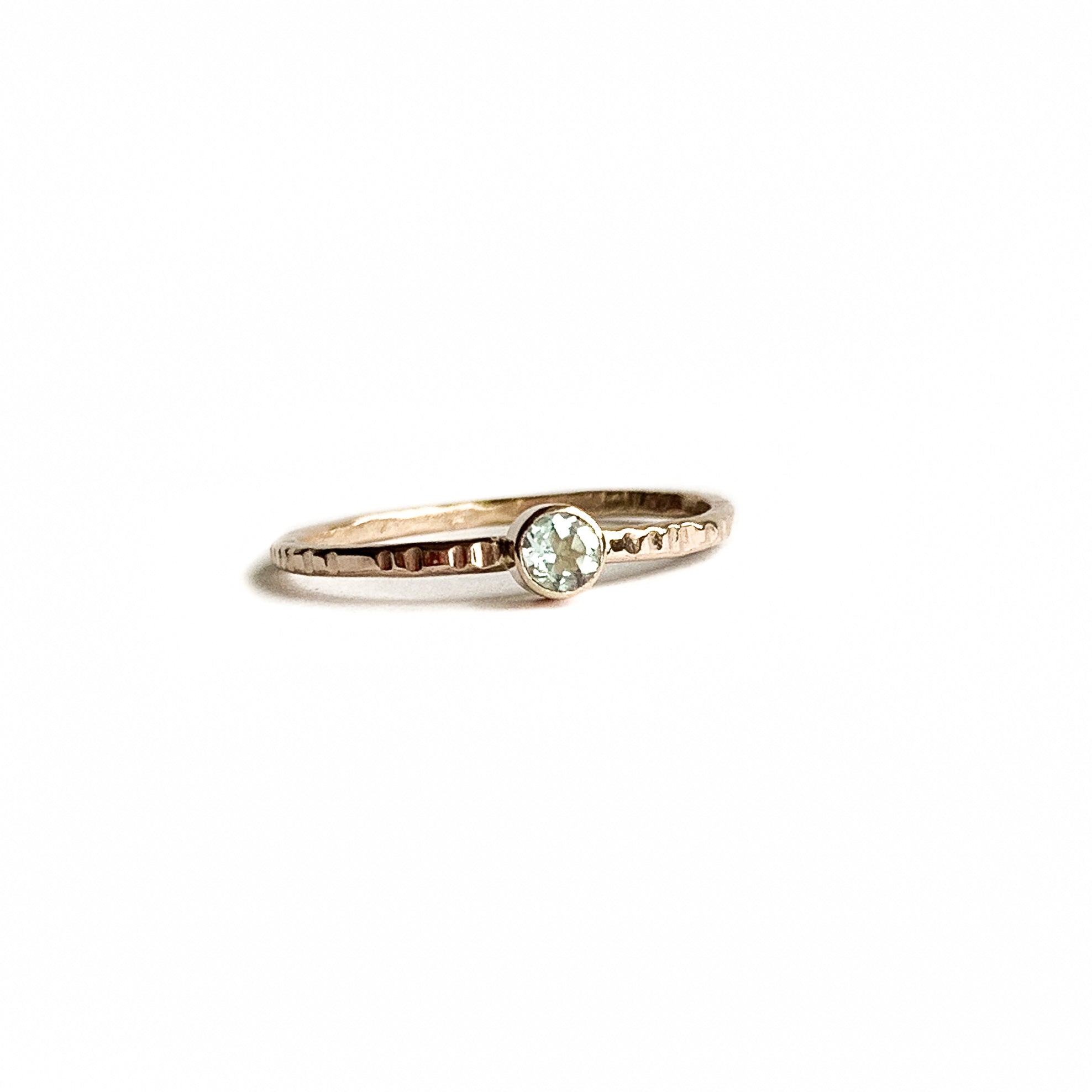 AQUAMARINE ring - Gold