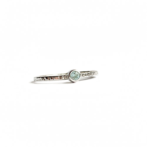 AQUAMARINE ring - Silver