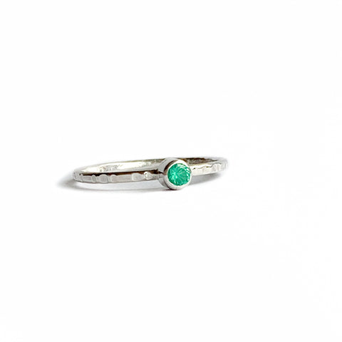 3 Gemstone rings - Silver
