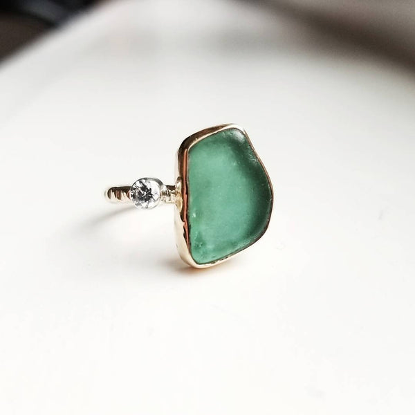 Beach glass ring
