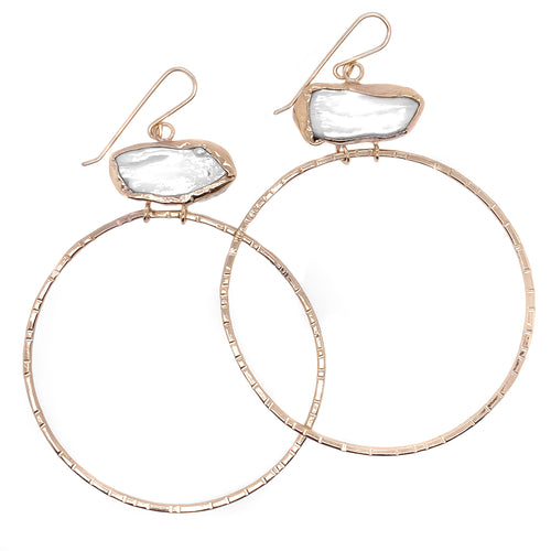 DANU HOOP EARRINGS - 14k Gold Filled