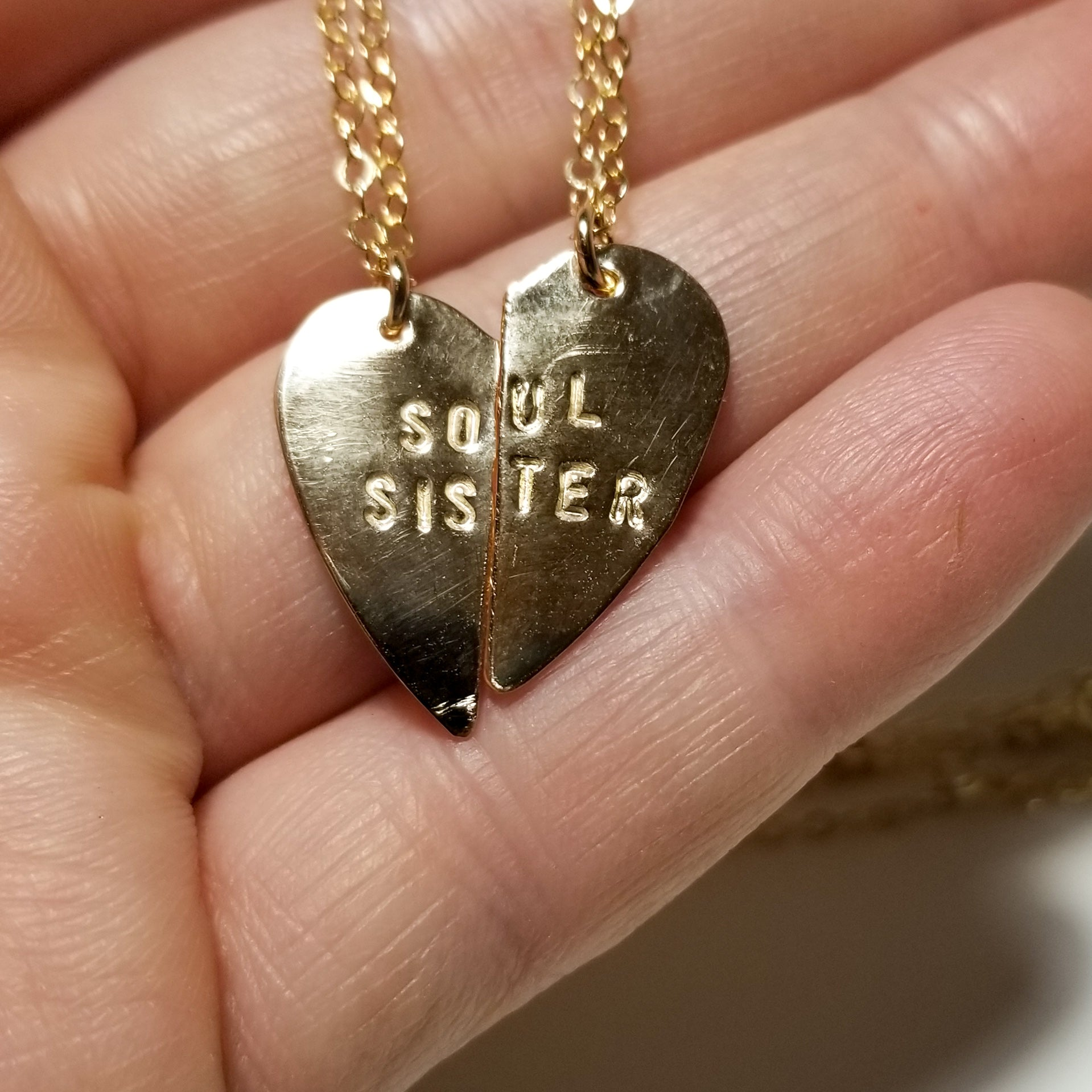 Soul sister - 14k yellow gold filled necklaces