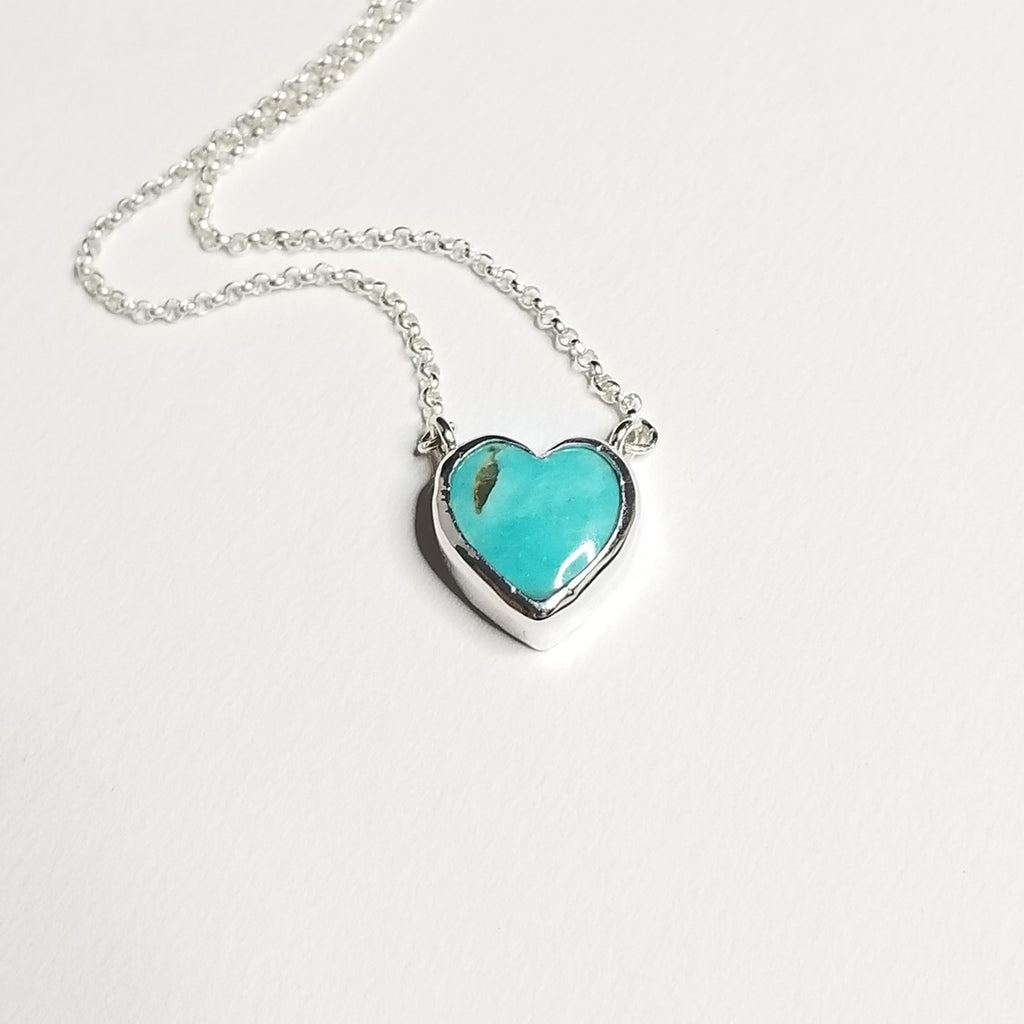 Turquoise necklace - sterling silver