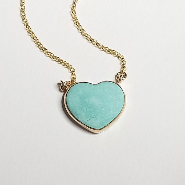 Turquoise lariat - 14k gold filled