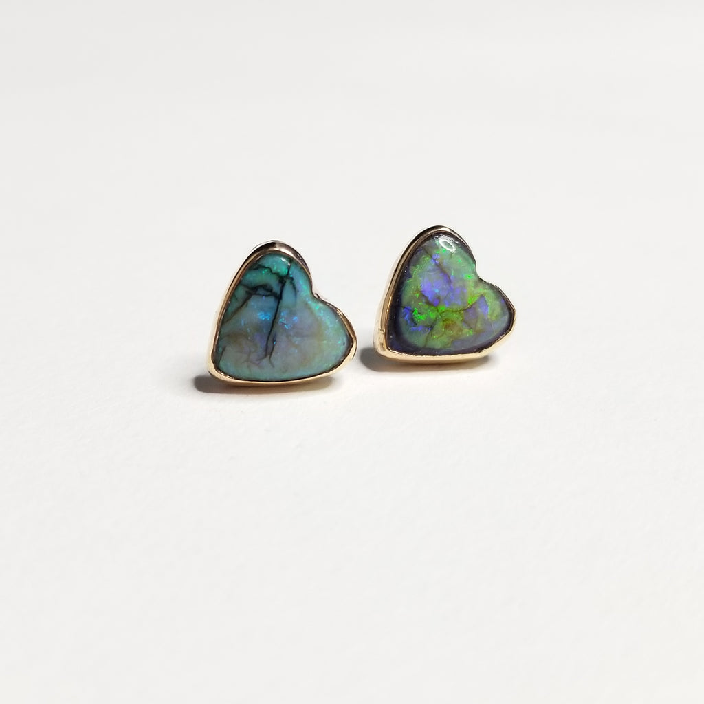 monarch opal studs - 14k gold filled