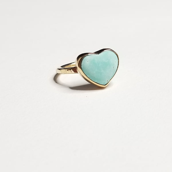 turquoise ring - 14k gold filled