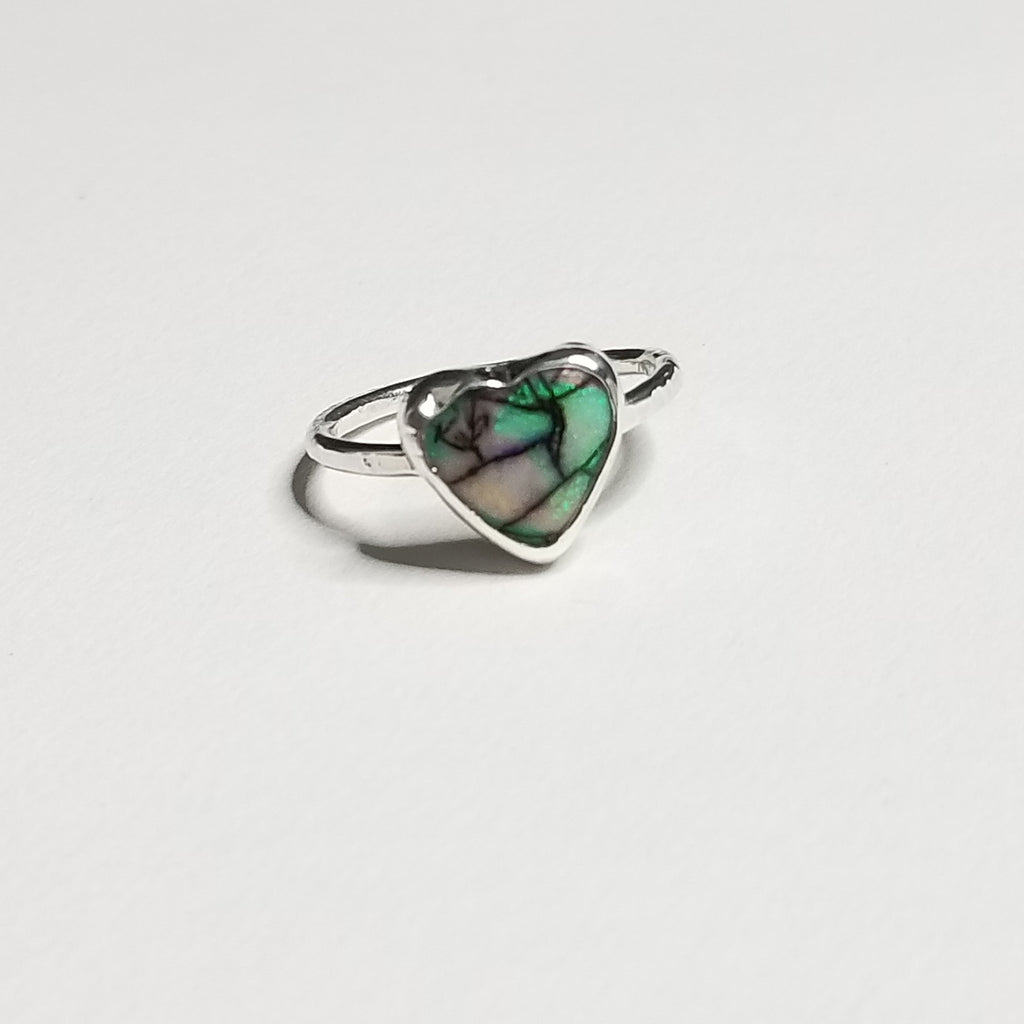 monarch opal ring - sterling silver