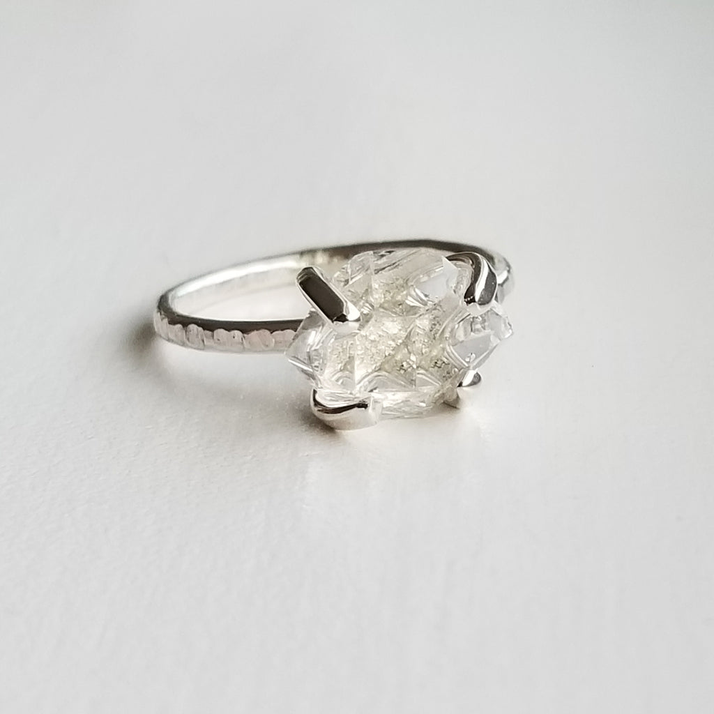 Herkimer diamond ring - size 8.25
